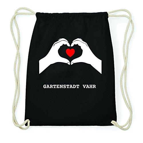 JOllify GARTENSTADT VAHR Hipster Turnbeutel Tasche Rucksack aus Baumwolle - Farbe: schwarz Design: Hände Herz ZPsyZk
