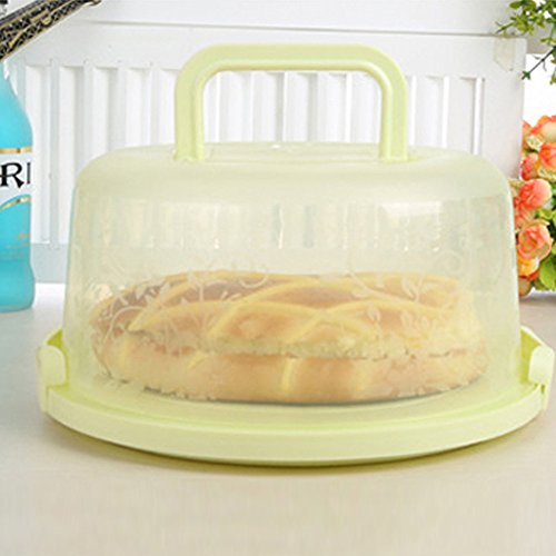 "Cake Carrier, 10"" Large Round Cake Saver, Apple Green ()"