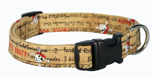 Country Brook Design Halloween Pirate Booty Designer Dog Collar-L - Nylon Dog Booties