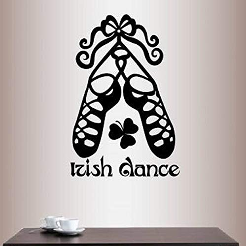 (Dalxsh Irish Dance Words Sign Shoes Decoration Wall Decals Bedroom Art Decor Vinyl Removable Wall Stickers for Living Room)
