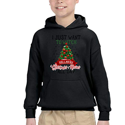 I Just Want to Watch Hallmark Christmas Movies All Day Boys' Hoodie Pullover