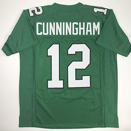 (Unsigned Randall Cunningham Philadelphia Kelly Green Custom Stitched Football Jersey Size Men's XL New No Brands/Logos)