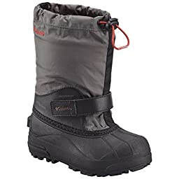 Columbia Childrens Powderbug Forty Winter Boot (Toddler/Little Kid), Black/Sail Red, 8 M US Toddler