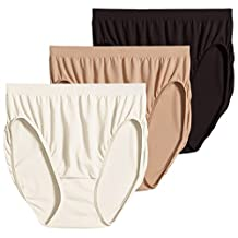 Jockey For Her Comfies 3-pk. Hi-Cut Panties 3326 IVORY/BLACK/WHITE 7