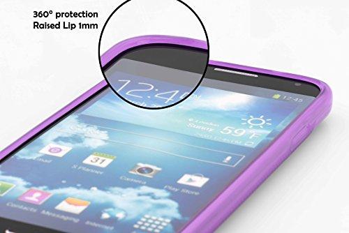 Cadorabo - Sony Xperia Z1 COMPACT Cubierta protectora de silicona TPU en diseño X-Line - Case Cover Funda Carcasa Protección en ÓXIDO-NEGRO ORQUÍDEA-VIOLETA