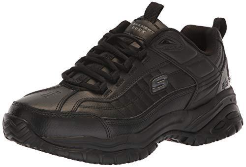 - Skechers for Work Men's Galley Sneaker, Black, 8 W US