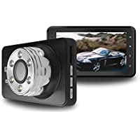 "SZC Dash Cam Car Dashboard Camera Driving Recorder DVR 170 Wide Angle 3.0"" LCD FHD 1080p with Loop Recording, G-Sensor, 16G TF Card"