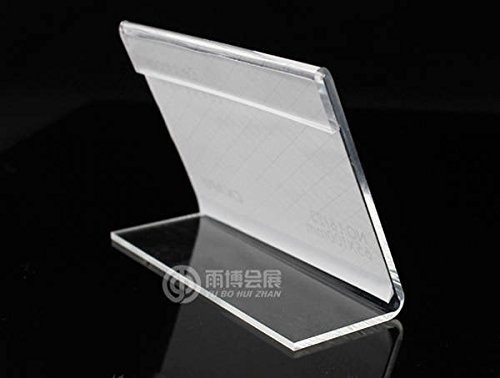 10 pcs Acrylic Sign Display Holder Price Name Card Tag Label Stand 55x85mm
