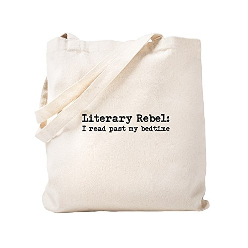 """Literary Rebel"" canvas tote bag by CafePress"