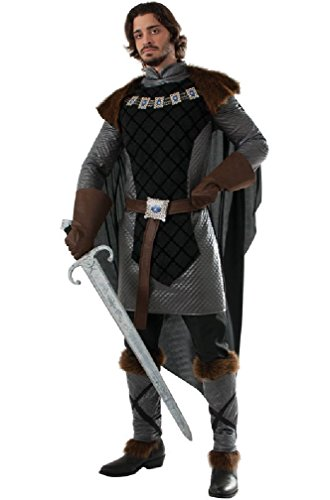 [8eighteen Game of Thrones Dark Prince Renaissance Knight Adult Costume] (Punk Fairy Costumes)