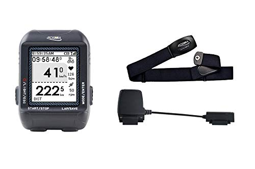 POSMA D3 GPS Cycling Bike Computer Speedometer Odometer, Bluetooth ANT+ Dual Mode BCB30 Speed Cadence Sensor BHR20 Heart Rate Monitor Value Kit (Best Value Bike Computer With Cadence)