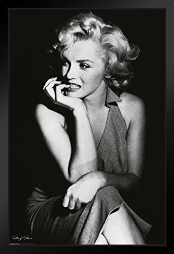 Pyramid America Marilyn Monroe Sitting Framed Poster 14x20 inch (Poster Monroe Marilyn Framed)
