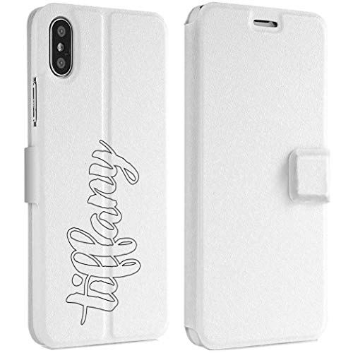 Wonder Wild White Sheet iPhone Wallet Case X/Xs Xs Max Xr 7/8 Plus 6/6s Plus Card Holder Accessories Smart Flip Hard Design Protection Cover Your Name Monogram Clean Pure Undefiled Absolute Tidy -