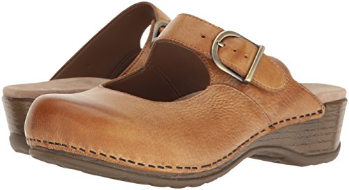 Dansko Women's Martina Mary Jane Flat, Honey Distressed, 40 EU/9.5-10 M US by Dansko (Image #6)