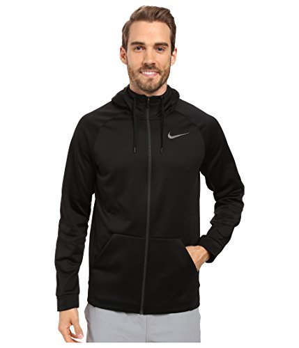 Men's Nike Therma Training Hoodie Black/Dark Grey Size Medium