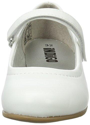 Ballerinas Geschlossene Mädchen 079 WHITE Indigo EU 36 Weiß 424 qgIdt