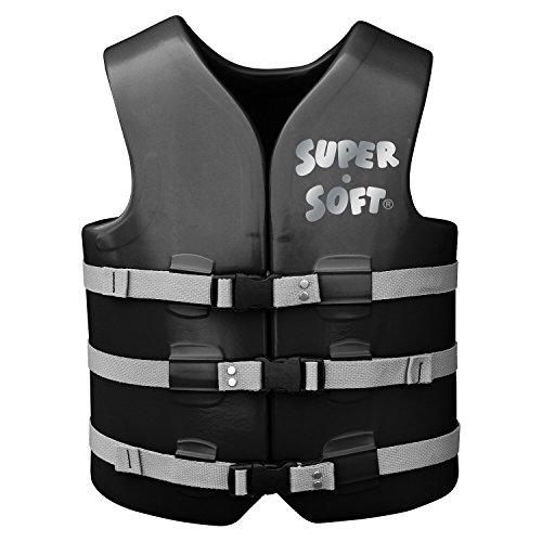 TRC Recreation Adult Super Soft USCG Vest, Black, (Super Soft Adult Vinyl)