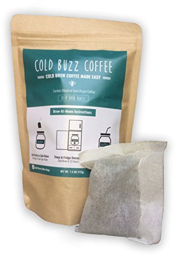 Dark Roast Cold Brew Coffee 5-Bag Pack | Cold Buzz Coffee | Iced Coffee Sachets | (1 pack of 5 bags)
