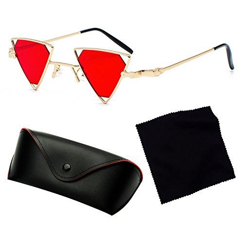 estilo juqilu Cool fuera Glasses gafas hombres de Metal triángulo Steampunk mujeres hueco C5 sol moda qZBw8EZx