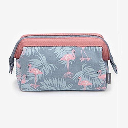 LULAN Kosmetik Tasche großer Kosmetik Zulassung Paket Reisetasche portable travel Kulturbeutel weiblichen liefert, 18 * 13 * 9 cm, grau Egret