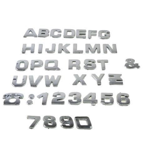 3d chrome letters