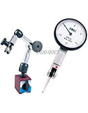 "HHIP 4400-0027 Dial Test Indicator and Mini Magnetic Base Kit, 0-0.03"" Range, 0.0005"" Graduation"
