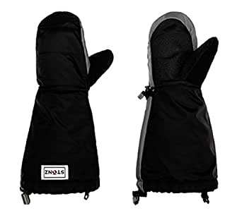 Stonz Mittz The Canada Mittens - Cold Weather Gloves and Big Kid Mittens for Toddlers with 3M Thinsulate - Black/Grey (2-4 years)