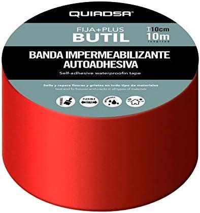 Quiadsa 53321007 FIJA+PLUS Butilo 20cm X 100cm Teja