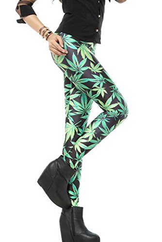 pantalones pitillo delgado Legging impreso Aivtalk sexy delgado el 5Eazwq