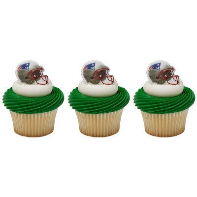 Price comparison product image 24 ~ NFL New England Patriots Helmet Rings ~ Designer Cake / Cupcake Topper ~ New!!!!!
