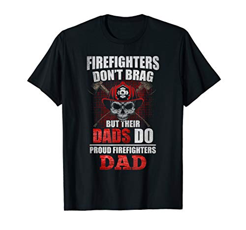 (Proud Firefighter Dad Shirt Firefighter Support Gift)