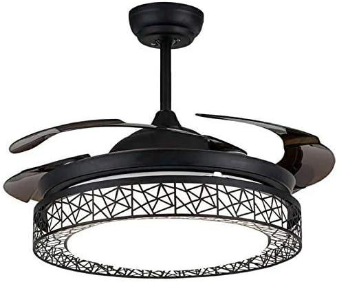 ZLYMY Ventilador de luz de Techo con Control Remoto Tricolor ...