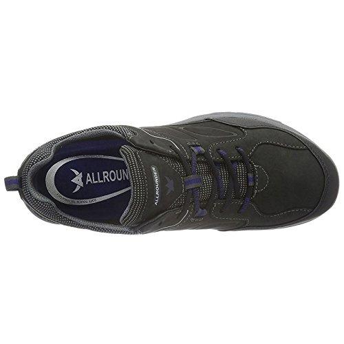 Allrounder Van Mephisto Mens Caletto Tex Sneaker, Zwart Rubber / Ori, Us 8.5 M