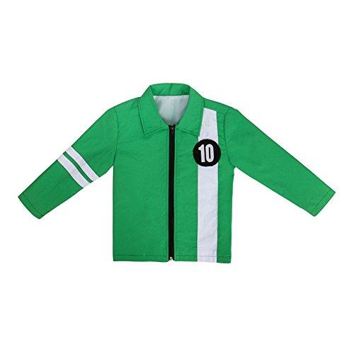 COSFLY Ben Green Jacket Aliens Force Kids Boys Cosplay Costume T-Shirt Benjamin IrbyTennyson Ten (Medium) for $<!--$29.99-->