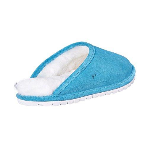 Vanuba De Turquesa Cuero D007 Mujer Bajas Zapatillas B1qBw6r