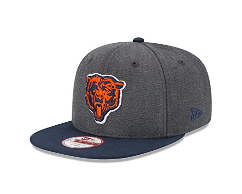(NFL Chicago Bears New Era Historic Heather Graphite 9FIFTY Original Fit Cap, Graphite, One Size)