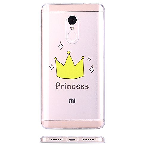 Funda Xiaomi Redmi Note 4X Carcasa, Mosoris Redmi Note 4 / Note 4X (5.5 Pulgadas) Suave Transparente TPU Silicona Parachoques Tapa para Samsung Galaxy J5 2016 J510 Ultra Delgado Flexibilidad Protector Crown