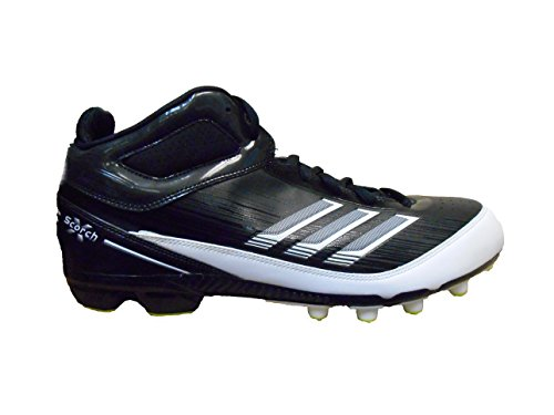 - adidas AS SMU Scorch X Field Turf Football Cleats (16, Black/White-Slime)
