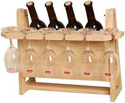 ワインラック ワインホルダー 木製ワイン棚4ボトル収納ディスプレイ棚シャンパンボトルホルダー49 * 35 * 23 cm (Color : B)
