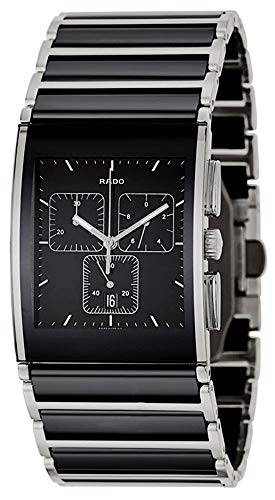 - Rado Integral XL Chronograph Quartz Black Ceramic Stainless Steel Black Dial Date Mens Watch R20849152