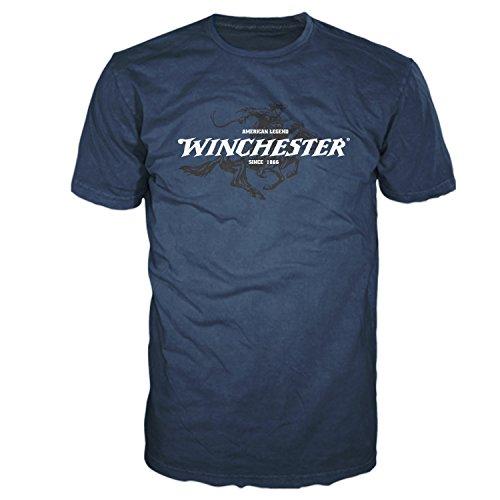 Winchester Official Men's Legend Rider Graphic Short Sleeve T-Shirt (XL, Navy)
