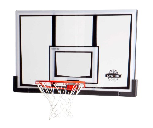 Lifetime 90087 52 Inch Shatterproof Backboard and Rim Combo Kit