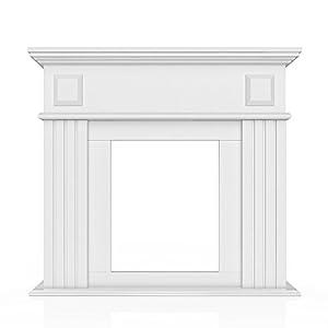 oskar kaminumrandung im landhaus stil 100 x 109 cm in wei umbau sims rahmen konsole kamin. Black Bedroom Furniture Sets. Home Design Ideas