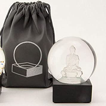 authorized site 100% high quality the latest CoolSnowGlobes Buddha to Go Miniature Cool Snow Globe Clear Buddha
