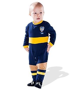 Boca Juniors - Pijama Mixto bebé, BOCAFT, Azul, 0-3 Meses