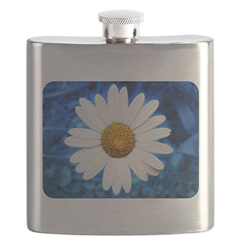 Hip Flask Daisy Energy Blue