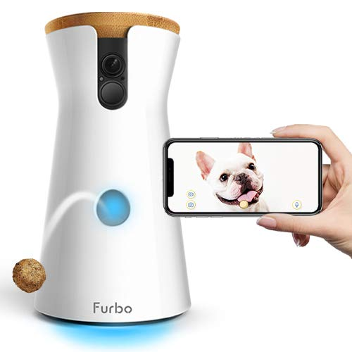 Furbo Dog Camera  Treat Tossing, Full HD Wifi Pet Camera and 2-Way Audio, Designed for Dogs, Compatible with Alexa (As Seen On Ellen)