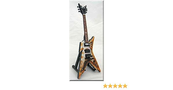 DIMEBAG DARRELL Guitarra en miniatura con p/úa de guitarra Pantera