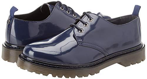 U280 Cordones De Jeans Trussardi Studs 7779 Zapatos Hombre Pyramid Negro blue nero Derby Para xA6qpXO