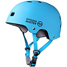 OutdoorMaster Skateboard Helmet - CPSC Certified Lightweight, Low-Profile Skate & BMX Helmet with Removable Lining - 12 Vents Ventilation System - for Kids, Youth & Adults